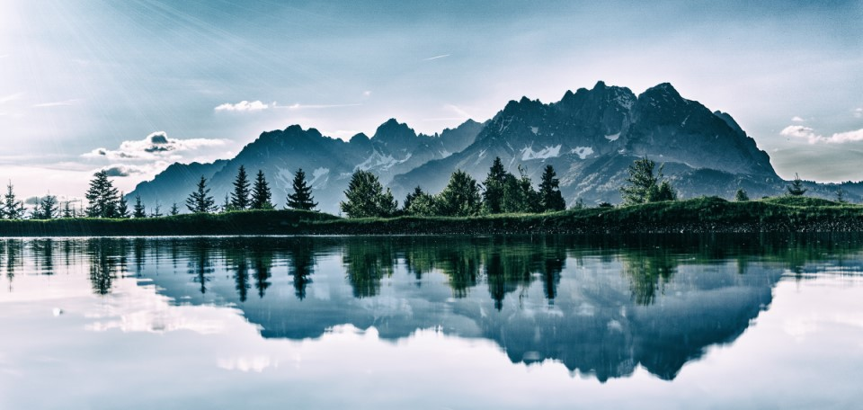 Mountains Reflecting In Lake